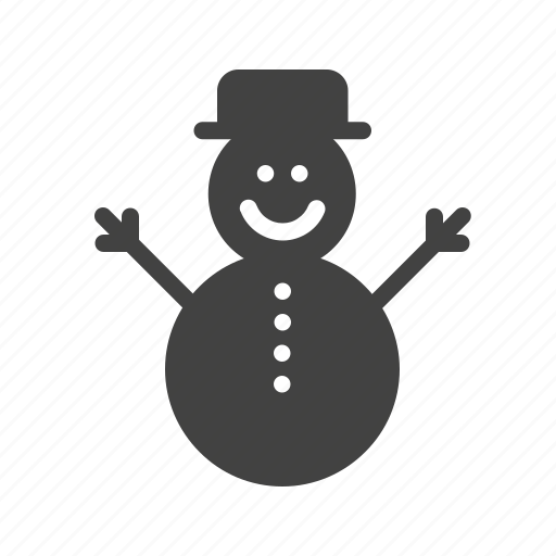 cold, playing, snow, snowman icon