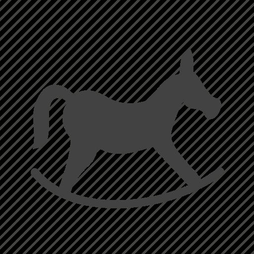horse, path, rocking, running icon