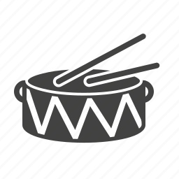 band, drums, music, sticks icon