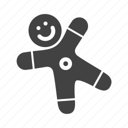gingerbread, kids, stuff, toy icon