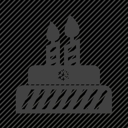 anniversary, birthday, cake, candles icon