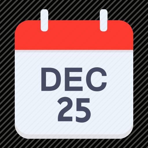 calendar, christmas, date, december, festival, xmas icon