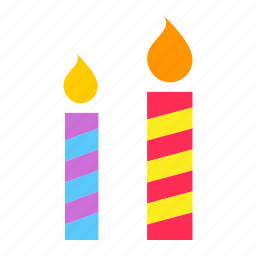 birthday, bright, candle, christmas, light, new year, shine icon