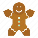 bread, christmas, cookie, dessert, ginger, gingerman, xmas icon