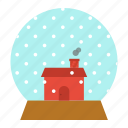 ball, christmas, crystal, gift, house, snow, xmas icon