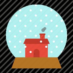 ball, christmas, crystal, gift, house, snow, xmas icon