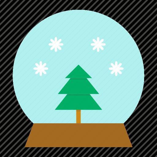 ball, christmas, crystal, gift, snow, tree, xmas icon