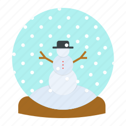 ball, christmas, crystal, gift, new year, snow, snowman icon