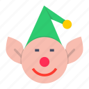 christmas, elf, help, santa, xmas icon