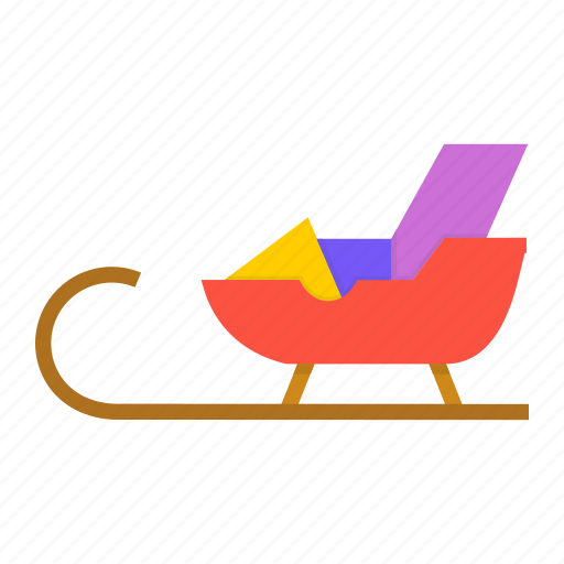 christmas, claus, gift, gifts, new year, santa, sledge icon