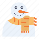 carrot, christmas, man, new year, snow, snowman, winter icon