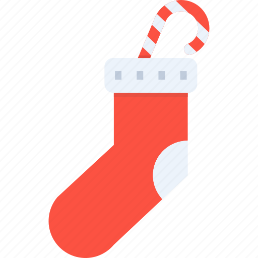candy, christmas, gift, new year, socks, winter icon