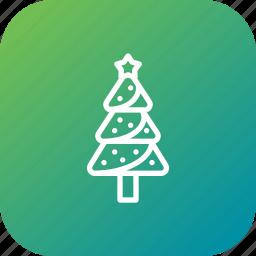 christmas, decoration, holiday, pine, star, tree, xmas icon