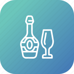 alcohol, beverage, celebration, champagne, drink, party, wine icon