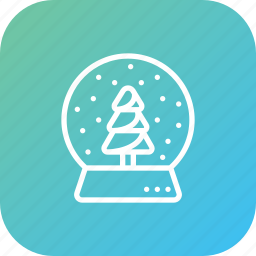 christmas, crystalball, decor, gift, present, showpiece, snowfall icon
