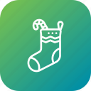 candy, cane, christmas, gift, sock, sweet, xmas icon