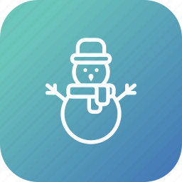 christmas, snow, snowman, xmas icon