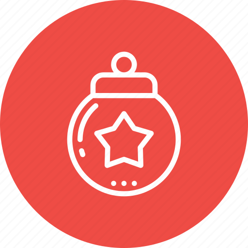 ball, celebration, christmas, decor, decoration, globe, star icon