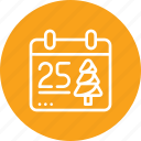 calendar, christmas, day, month, xmas icon