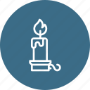 candle, christmas, decoration, flame, light, stand, xmas icon