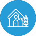 christmas, pine, snow, snowfall, snowhouse, tree, winter icon