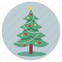 christmas, decorations, santa, tree icon
