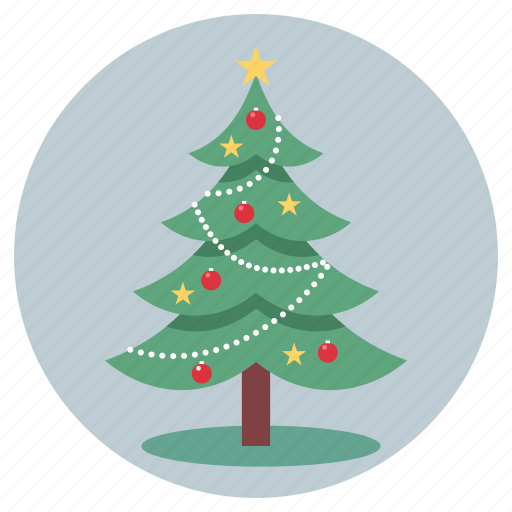christmas, decorations, santa, tree icon