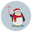 christmas, penguin, snowman icon