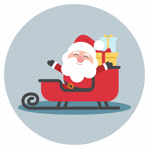 cart, christmas, gift, present, santa, santa claus icon