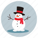 christmas, man, snow, snow man icon