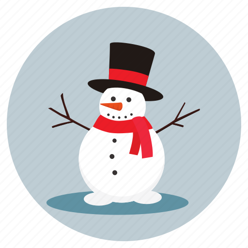 christmas, man, snow, snow man icon