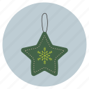 christmas, gift, star, tag icon