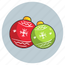 balls, christmas, decorations icon