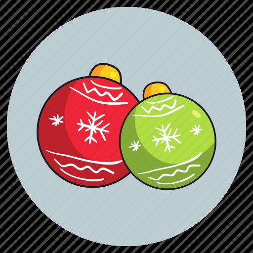 balls, christmas, decorations icon