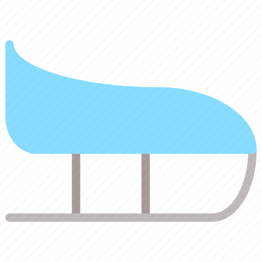 ice sled, sail, sled, winter icon