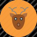 deer, face, noel, santa icon