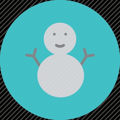 freezing, snow man, snowing, snowman icon