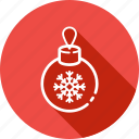 ball, new, ornament, toy, tree, year icon