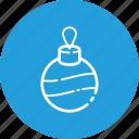 ball, new, ornament, toy, tree, xmas, year icon