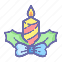 candle, christmas, new, ornament, xmas, year icon