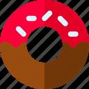 bath, doughnut, sprinkles, tub icon