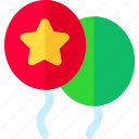 balloons, birthday, decoration, holiday icon