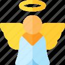 angel, festival, patricks, saint icon