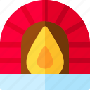 apartment, architecture, fireplace, home icon
