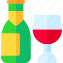 bottle, champagne, party, wine icon