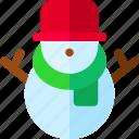 decoration, holiday, holidays, snowman icon