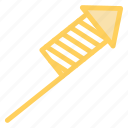 cracker, explosion, fire, launching, stripes icon