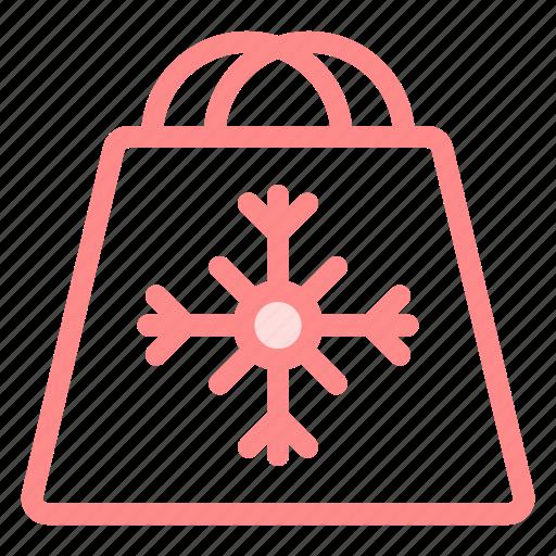 bag, gift, handles, reuseable, shop icon