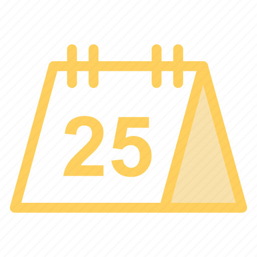 calendar, day, diary, number25, schedule icon