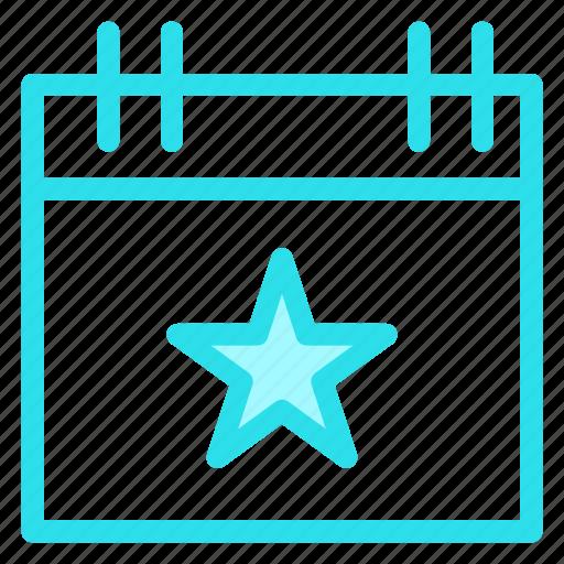 calendar, christmas, day, event, star icon